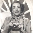 1951. Joan promotes Foton cameras in conjunction with the release of 'Goodbye My Fancy.'