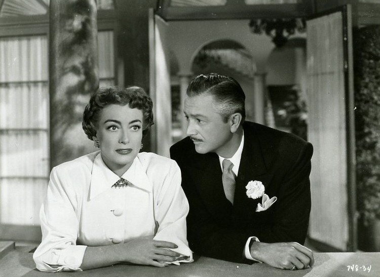 1951. 'Goodbye, My Fancy.' Film still with Robert Young.