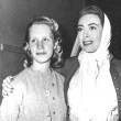 1952. Christina visits Mommie on the 'Sudden Fear' set.