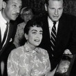 1954. Receiving unknown award in Los Angeles. Shot by Bert Parry.