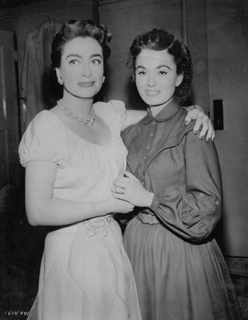 1953. With Ann Blyth on the set of 'All the Brothers Were Valiant.'