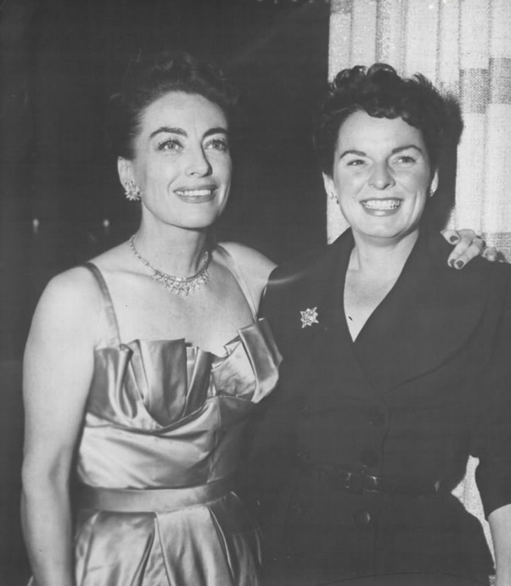 October or November 1953. At a 'Torch Song' party for Joan, with Mercedes McCambridge.