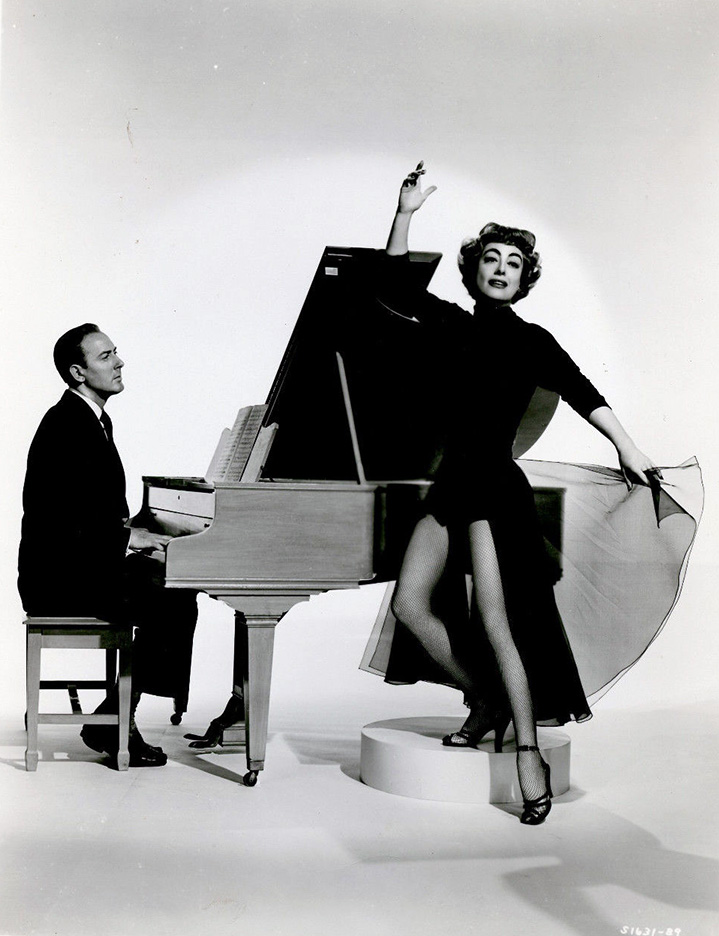 1953 publicity for 'Torch Song' with Michael Wilding.