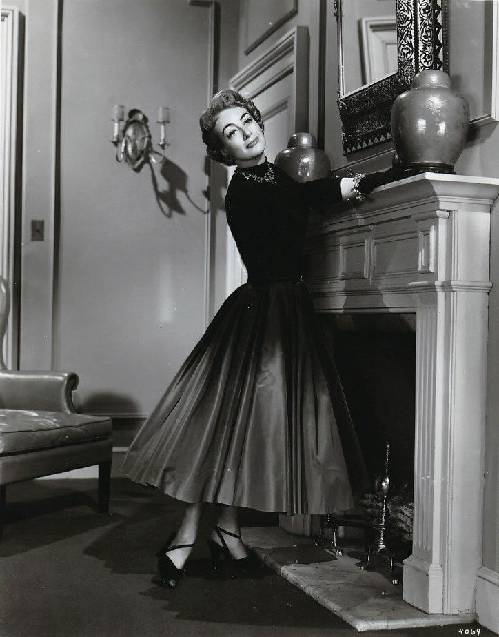 1953. 'Torch Song' publicity with wardrobe by Helen Rose.