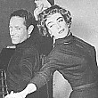 Joan rehearses with 'Torch Song' director Charles Walters.