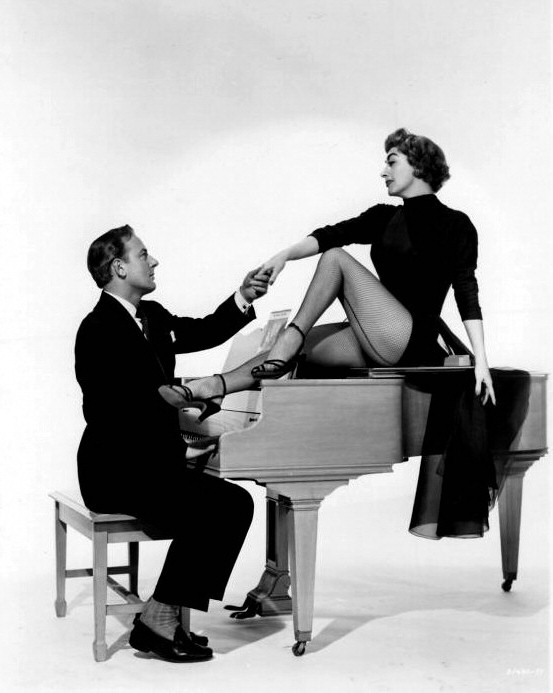1953. 'Torch Song.' With Michael Wilding.