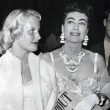 June 1954. At the premiere of 'About Mrs. Leslie' with daughter Christina.
