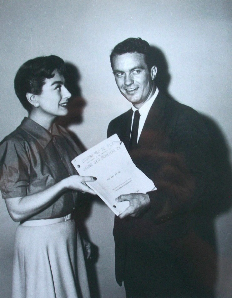 Publicity with Cliff Robertson for 'Autumn Leaves,' at this early stage titled, 'The Way We Are.'