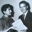 Presenting the newly hired Cliff Robertson with the script for 'The Way We Are.'