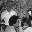 With Christopher and the Twins on the set of 'Johnny Guitar.'