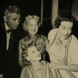 1953. Goddaughter Joan Evans's 1-year wedding anniversary party. With Jeff Chandler.