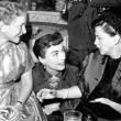 1954. Four candids with Helen Hayes and Judy Garland.