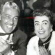 1954. At Ciro's with Cesar Romero.