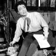 On the set of 'Johnny Guitar.'