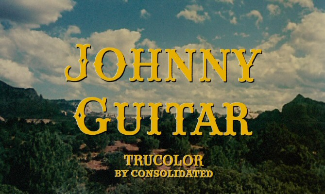 'Johnny Guitar' title screen.
