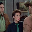 1954. 'Johnny Guitar.' With Scott Brady, left, and Sterling Hayden.