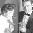 1954. At the premiere of 'Knock on Wood.'