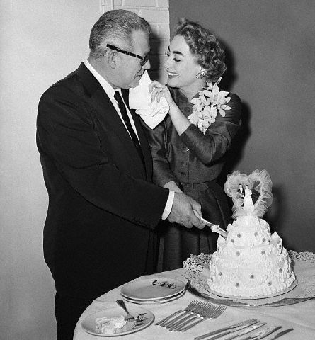 May 10, 1955. Cake for the newlyweds in Las Vegas.