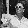 June 21, 1955. Honeymooning in Capri. Four different press edits of same photo.