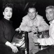 1955. On the set of 'Female' with director Joseph Pevney and Jeff Chandler.