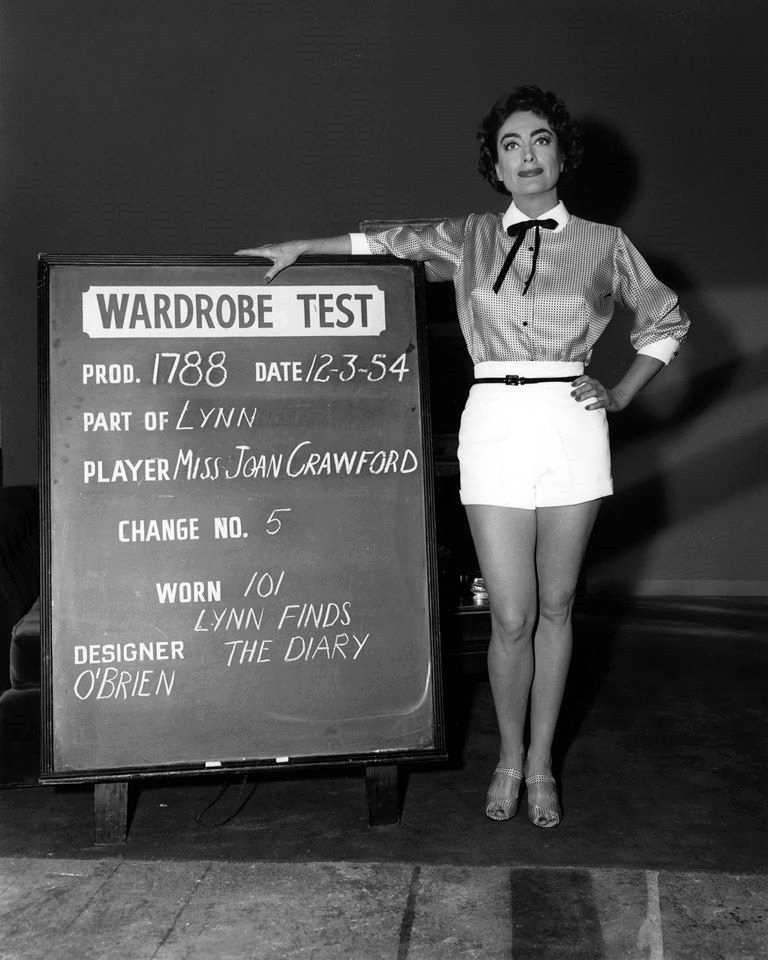 12/3/54. Wardrobe test for 'Female on the Beach.'
