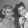 1955. 'Female on the Beach' publicity. With Jeff Chandler.