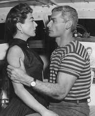 With Jeff Chandler