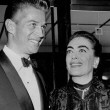 1954, with George Nader.