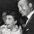 August 1954 at the premiere of 'The Egyptian' with George Reeves.