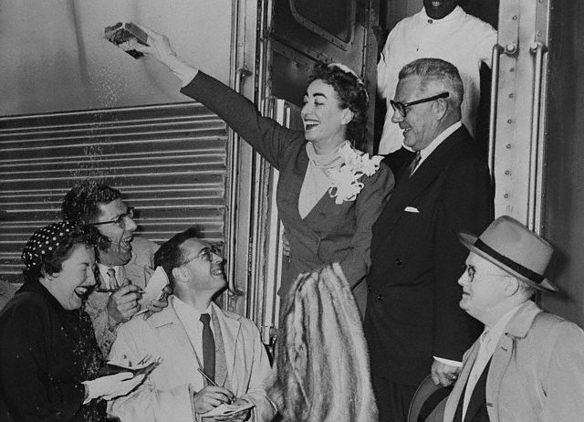 May 1955. Newlyweds arrive in Los Angeles.