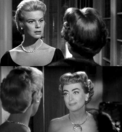 1955. Screen shots from 'Queen Bee' with Betsy Palmer.