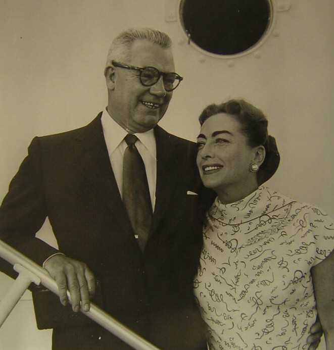 1955 publicity with husband Al Steele.