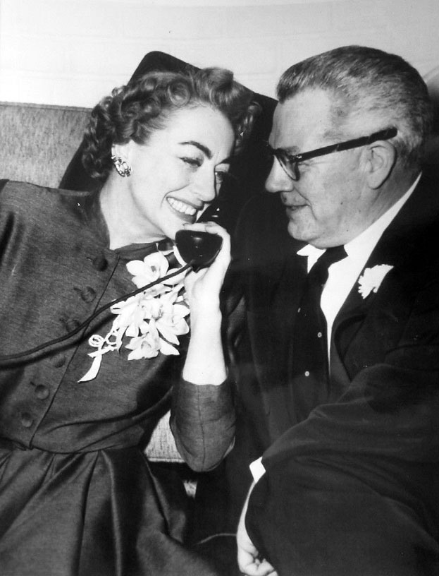 May 10, 1955. In Las Vegas on her wedding day, with Al Steele.