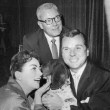 October 1955. With Al Steele and Jackie Cooper in Hollywood.