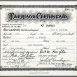 May 10, 1955, marriage certificate of Al Steele and Joan.