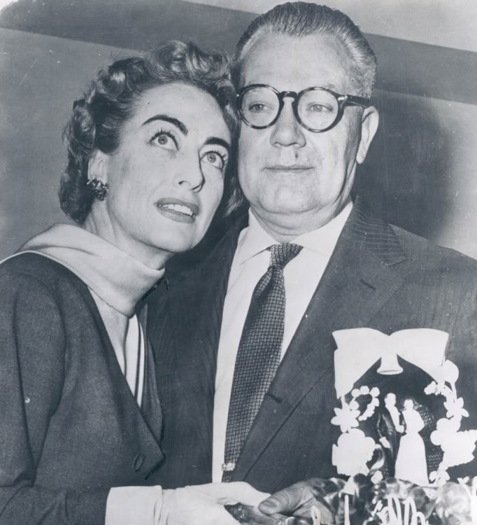 May 13, 1955. With new husband Al Steele in Los Angeles.