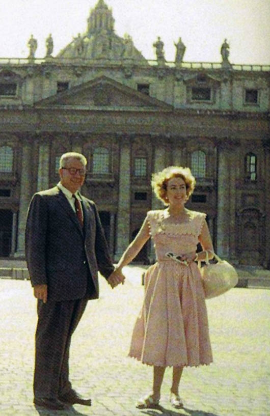 1955 with Al Steele at the Vatican. (Thanks to Bryan Johnson.)