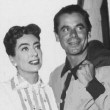 On the set with old flame Glenn Ford.