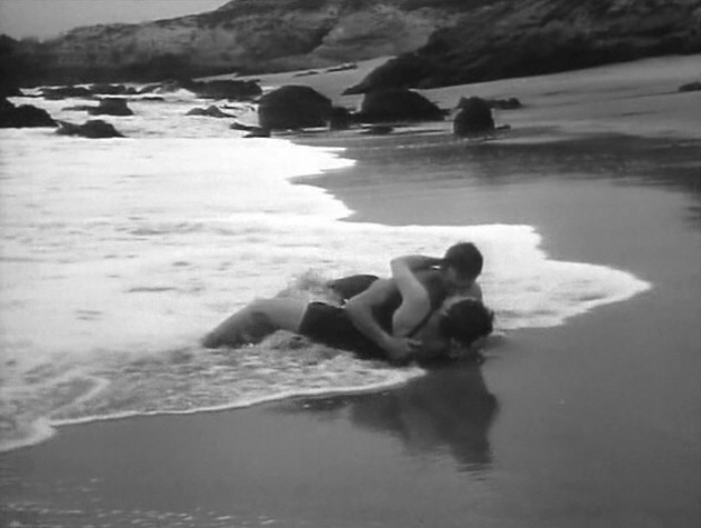 1956. 'Autumn Leaves.' A screen shot with Cliff Robertson.
