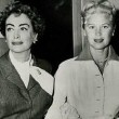 1957. Testifying at the furrier Teitelbaum trial. With Joan Caulfield.