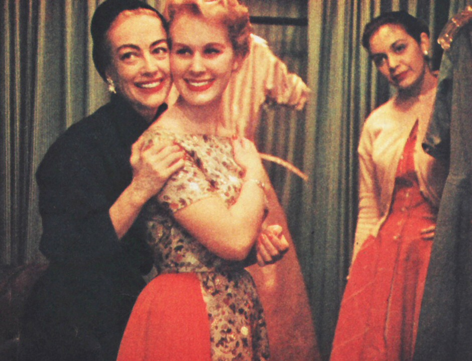 1956 in NYC, with Christina and designer Tina Leser.