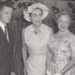 July 1956. At London's Dorchester Hotel with Helen Hayes and son James MacArthur.