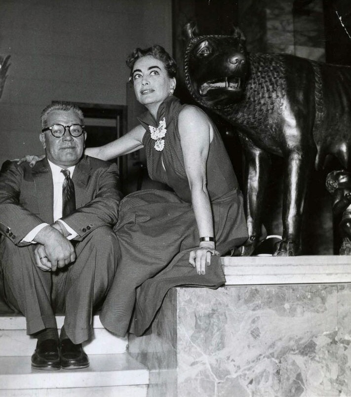 1956 in Rome with husband Al Steele.