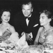 1956. In London with Vivien Leigh and Laurence Olivier.