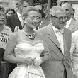 August 1957 on the streets of Rome with husband Al Steele.
