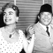 June 1959. On the 20th Century-Fox lot with Indonesian president Sukarno.