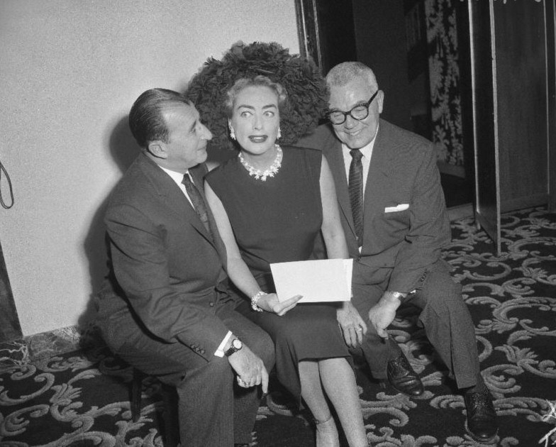 April 8, 1959. Pepsi press conference with Pepsi exec Herbert Barnet (left) and hubby Al Steele.