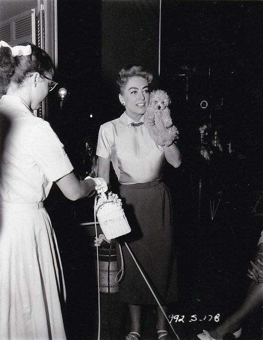 1959. On the set of 'The Best of Everything.'