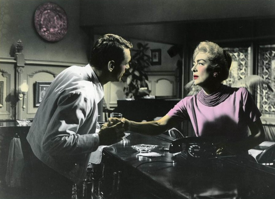 1959. 'The Best of Everything.' Colorized shot from the deleted 'drunk scene.'