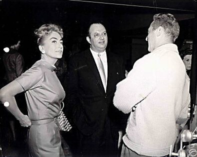 1959. On the 'Best of Everything' set with Jerry Wald and Jean Negulesco.